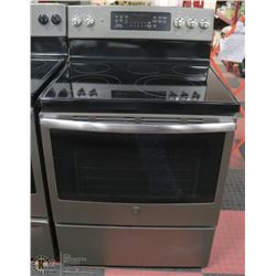 GE SLATE GREY 5 BURNER CONVECTION STOVE 30""