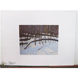 "63) ""FALLEN TIMBER"" LARRY BABB PRINT."