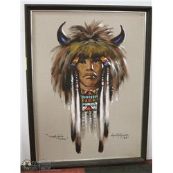 "6) ""MEDICINE MAN"" ON BEIGE FABRIC CHRIS"