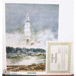 """61) """"COLUMBIA"""" JIM W. LANE PRINT. 43X57 CM. YEAR"""