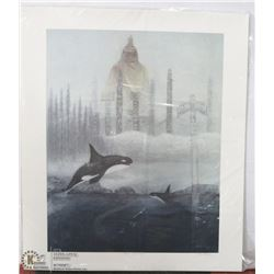 """131) """"PEOPLE OF THE WHALE"""" RICHARD DIXON PRINT."""