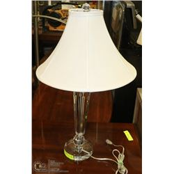"HEAVY CRYSTAL LAMP 29"" TALL"