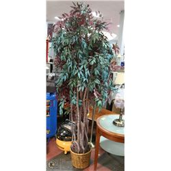 7 FOOT ARTIFICIAL TREE WITH CURVED TRUNK.