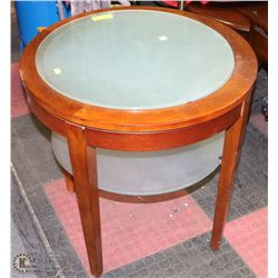 """26X26""""H GLASS END TABLE"""