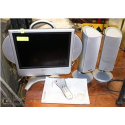 SHARP PERSONAL TV SOLD WITH 2 POLK AUDIO SPEAKERS