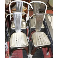 SET OF 4 METAL SIDECHAIRS