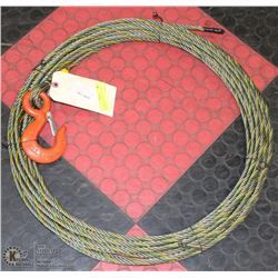 75' WINCH  LINE WITH EYE LOCK AND LATCH