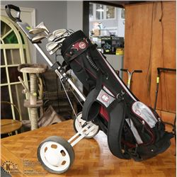 COMPLETE SET OF ACCULITE GOLF CLUBS WITH