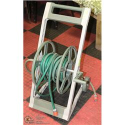 GARDEN HOSE REEL WITH HOSE