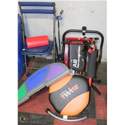 GROUP OF 4 ASSORTED WORKOUT DEVICES
