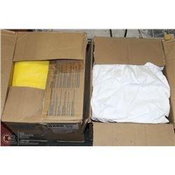 1-1/2 CASES OF DISPOSABLE COVERALLS INCL YELLOW
