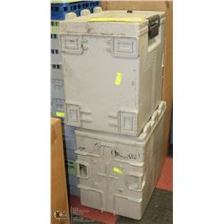 PAIR OF GREY CAMBRO FOOD TRANSPORTS