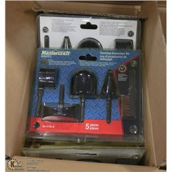 CASE OF MASTERCRAFT 5PC CLEANING ACCESSORY KITS
