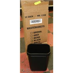 CASE OF 12 NEW WASTE BASKETS