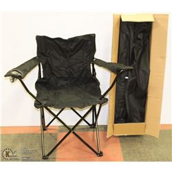 PACK OF 4 NEW FOLDING LAWN CHAIRS-BLACK