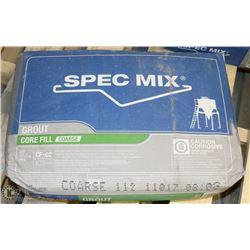 80LB BAG SPEC MIX  GROUT CORE FILL
