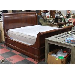 ESTATE KING SIZE SOLID WOOD SLEIGH BED.