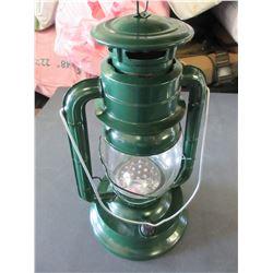 "New Metal 14"" Hurricane Lantern 21 LED Lights / uses very little energy/green"