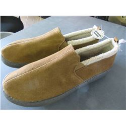 New Pair Mossimo Mens Slippers non marking sole/genuine suede size 12