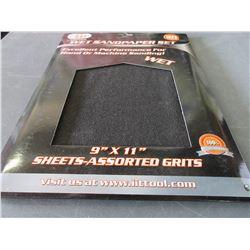 Case of 20 Wet Sandpaper set / 9 x 11 assorted grits60-100-150-240grit