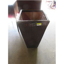 Wicker Plant stand for Patio or Deck / 27 1/2 high x 14 square on top