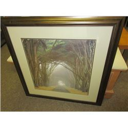 Misty Road Print in matted Frame 34.5 x 34.5
