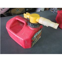 No Spill Gas Can 5 litre push button controlstops flow automatically