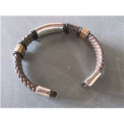 Leather & Stainless Bracelet
