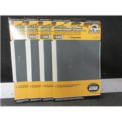 4 New Gator Grit Waterproof Sandpaper 1500 grit 6 sheets each/ 24 total