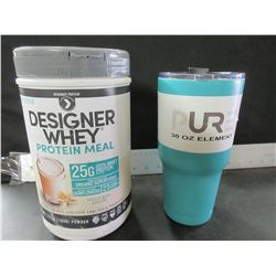 Designer Whey Protein Meal & 30oz PUR Element Mug / 32.99 mug