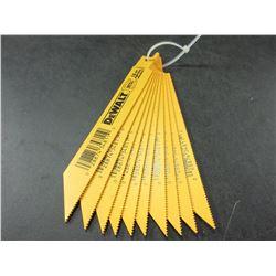 New DeWalt 6 inch Bi-Metal Recip/Sawzall Blades / 10 blades