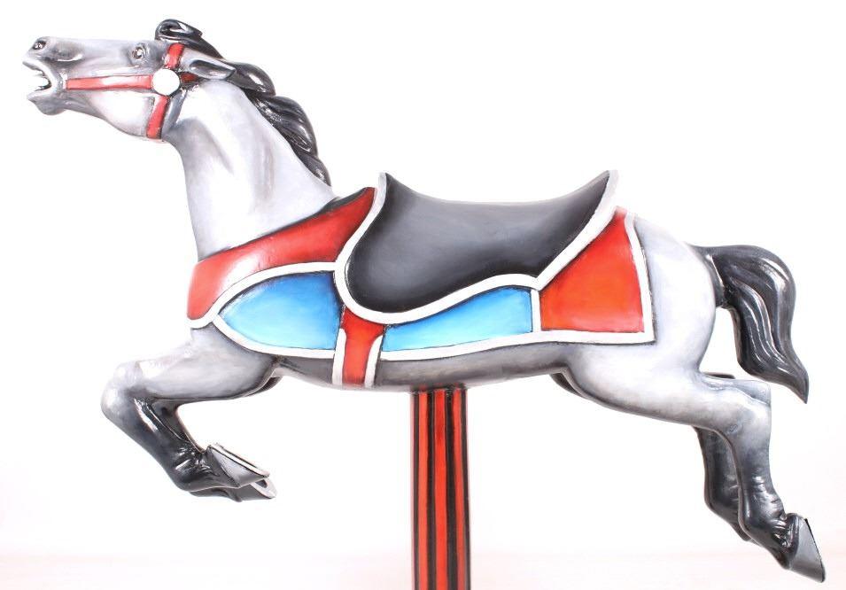 Coca-Cola Cast Aluminum Carousel Horse c 1950