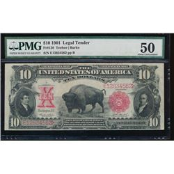1901 $10 Bison Legal Tender Note PMG 50