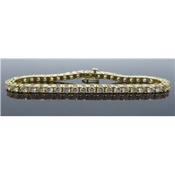 14KT Yellow Gold 6.00ctw Diamond Tennis Bracelet