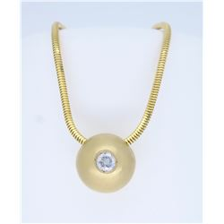 14K Yellow Gold 0.25ct Diamond Pendant with Chain