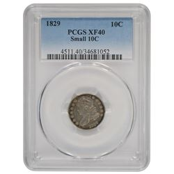1829 Capped Bust Dime PCGS XF40