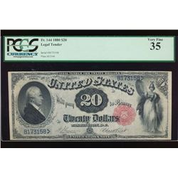 1880 $20 Legal Tender Note PCGS 35