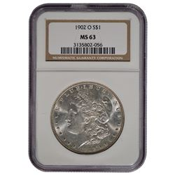 1902-O $1 Morgan Silver Dollar Coin NGC MS63