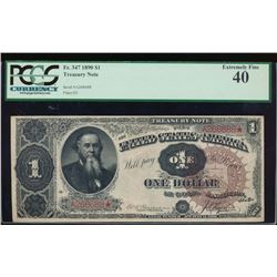 1890 $1 Treasury Note PCGS 40