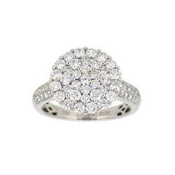 18KT White Gold 1.55ctw Diamond Ring