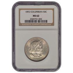 1892 Columbian Exposition Half Dollar Coin NGC MS62