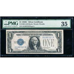 1928C $1 Silver Certificate PMG 35