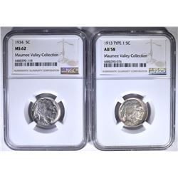 NGC GRADED BUFFALO NICKELS: