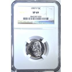 1997-P JEFFERSON NICKEL, NGC SP-69