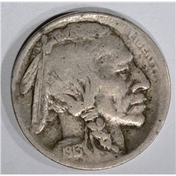 1913-S TYPE-1 BUFFALO NICKEL, VF