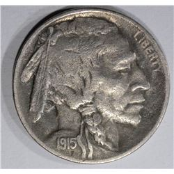 1915-D BUFFALO NICKEL, XF