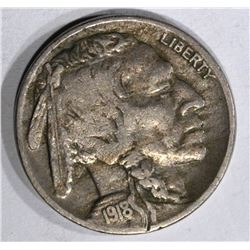 1918-D BUFFALO NICKEL, F/VF
