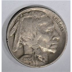 1918-S BUFFALO NICKEL, VF