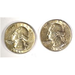 2-1941-D WASHINGTON QUARTERS, CH BU
