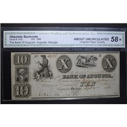 1836 $10 BANK OF AUGUSTA CGA AU OPQ*
